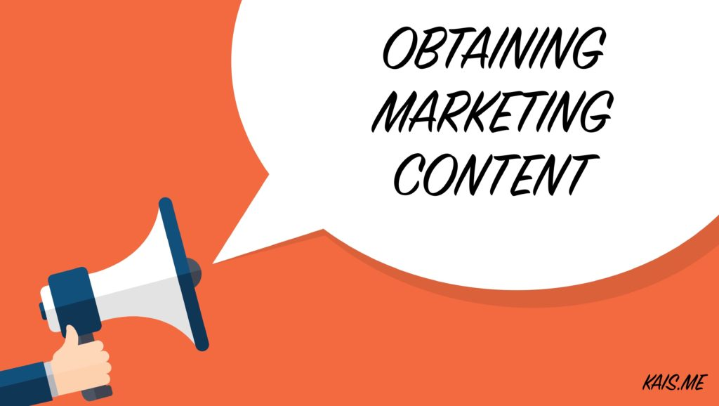 Obtaining Marketing Content